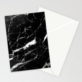 modern chic minimalist abstract black marble Stationery Cards