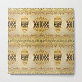 Ethnic african golden pattern. Metal Print