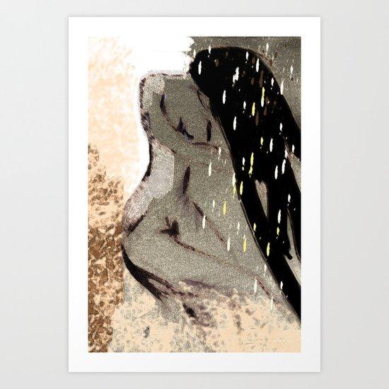 shower time  Art Print