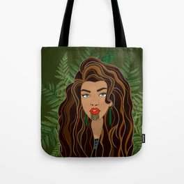 MAIA green bg Tote Bag