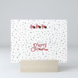 ho ho ho little santa Mini Art Print