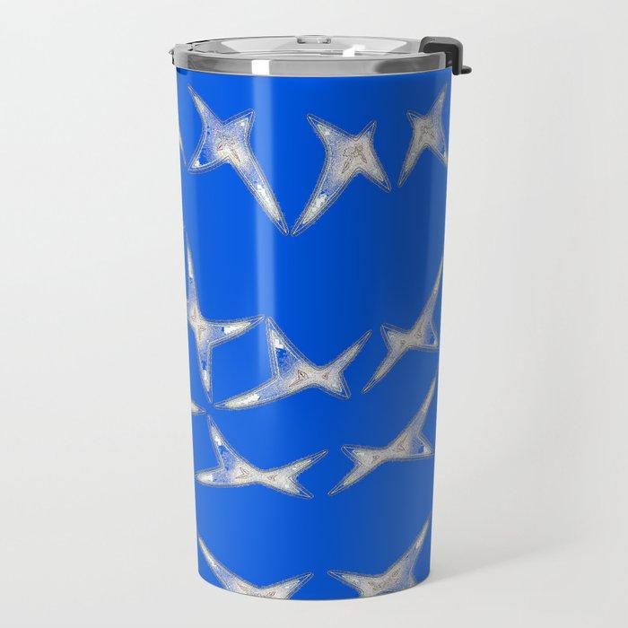 Dancing stars-blue Travel Mug