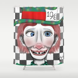 Hysterical Hatter Shower Curtain