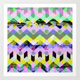 Diamond Chaos Art Print