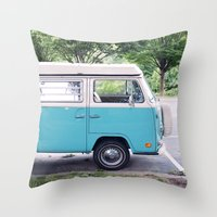 vw Throw Pillows featuring VW by myhideaway