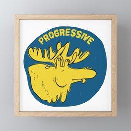 Progressive Moose Framed Mini Art Print