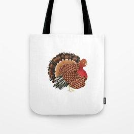 Cartoon turkey Tote Bag
