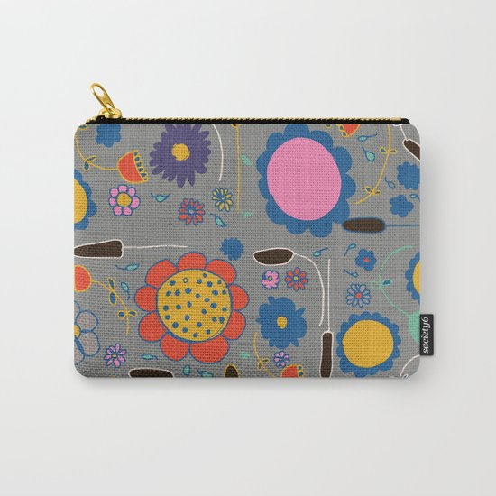 Blossom #3 gray Carry-All Pouch