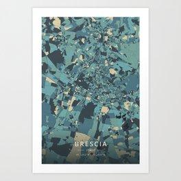 Brescia, Italy - Cream Blue Art Print