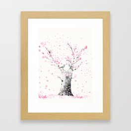 Cherry Blossoms And Birds Framed Art Print