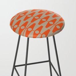 abstract eyes pattern orange tan Bar Stool