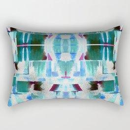 Babalon - Abstract Geometry Teal Rectangular Pillow