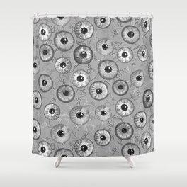 Ditsy Eyes (shades of gray) Shower Curtain