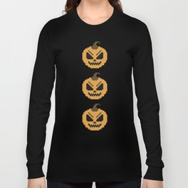 Pixel Pumpkins Long Sleeve T-shirt