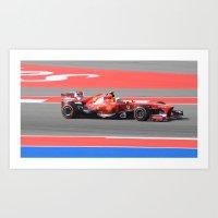 formula 1 Art Prints featuring Formula 1 by jay v jackson