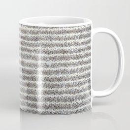 Gray and white garter stitch Coffee Mug