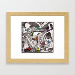 pop escher Framed Art Print