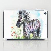 zebra iPad Cases featuring Zebra by Olechka