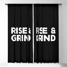 Rise & Grind Gym Quote Blackout Curtain
