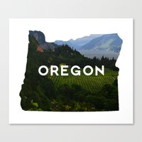 oregon Canvas Prints featuring Oregon by Hillary Murphy