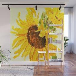 sunflower macro Wall Mural