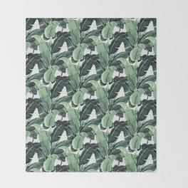 Tropical Banana Leaf Throw Blanket
