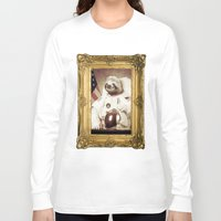 bitch Long Sleeve T-shirts featuring Sloth Astronaut by Bakus