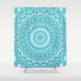Caribbean Blue Mandala Shower Curtain
