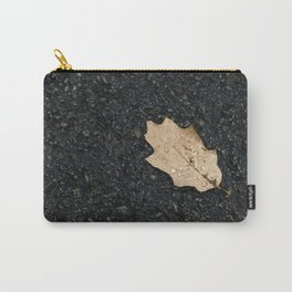 Autumn Leaf With Raindrops Carry-All Pouch