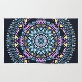 Blue Bohohemian Pattern Rug