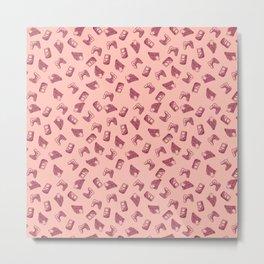 Arcade in Pink Metal Print