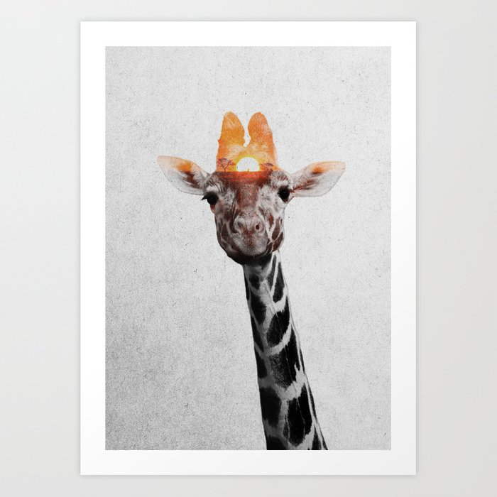 Discover the motif GIRAFFE by Andreas Lie as a print at TOPPOSTER