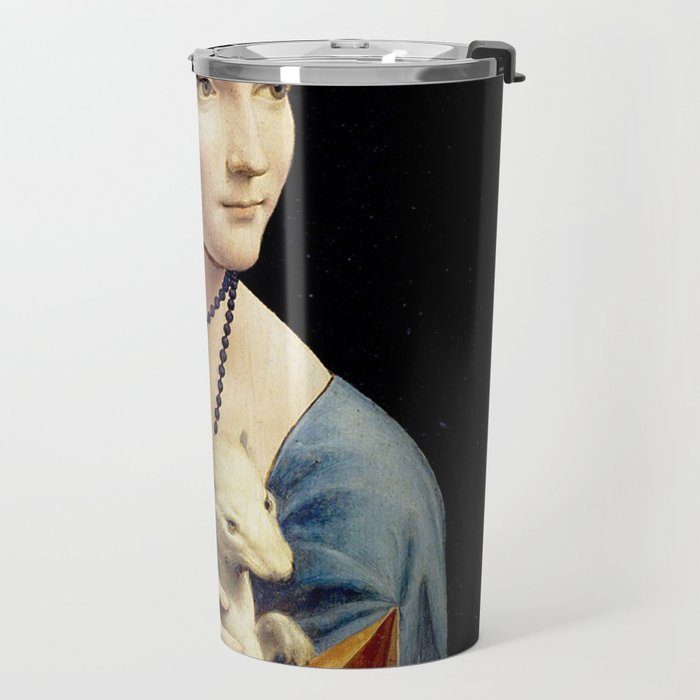 The Lady with an Ermine - Leonardo da Vinci Travel Mug