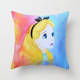 In Wonderland Throw Pillow