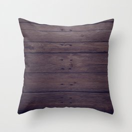 Rustic Distressed Wood Panel Boards Pattern Throw Pillow