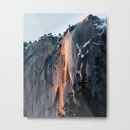 Firefall at Yosemite Metal Print