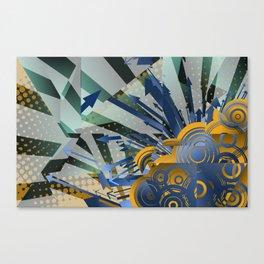 Vector Cubism Canvas Print