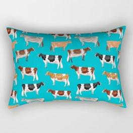 Dairy Breeds // Cerulean Rectangular Pillow