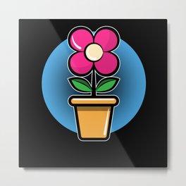 Gardener Gardening gift Flower For Office Metal Print