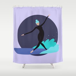 Wave Dancer Shower Curtain