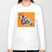 puppies Long Sleeve T-shirts featuring Dalmatian Puppies by Chip Dar Juan