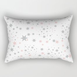Stars silver and blush Rectangular Pillow