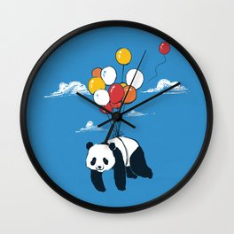 Flying Panda Wall Clock