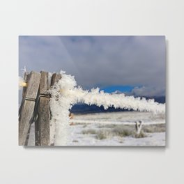 Laundry Line in Rime Frost Metal Print