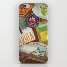 Fantasy Land Luggage Stamps  iPhone & iPod Skin