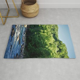A Creek and Forest in West Virginia  Rug