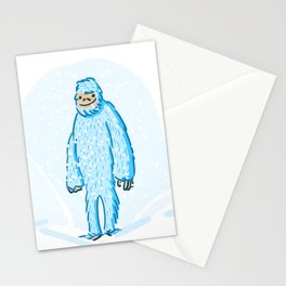 Yeti in the Snow Stationery Cards