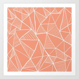 Pastel red pyramid pattern Art Print