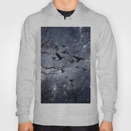 Woodland Crows And Bursting Stars Hoody