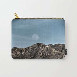 Moon over the Franklin Mountains Carry-All Pouch